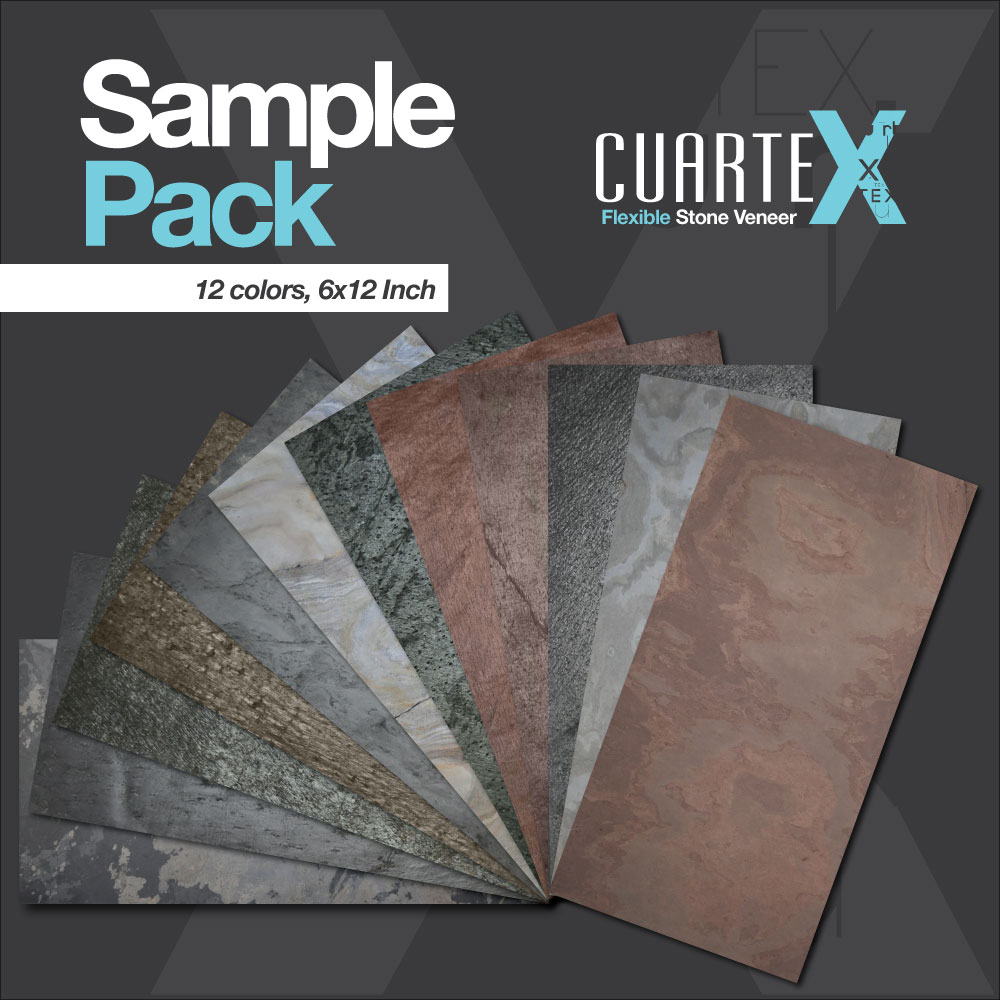Flexible Stone Veneer : Flexible stone veneer sample pack colors